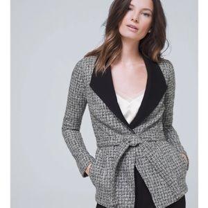 NWT WHBM Grey Belted Tweed Jacket